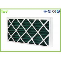 Buy cheap G4 Pleated Replacement Air Filter 45Pa Initial Pressure Drop With Cardboard from wholesalers
