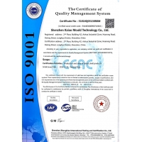 KAIAO RAPID MANUFACTURING CO., LTD Certifications
