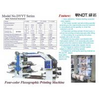 China Four Color Flexographic Printing Machine for Printing Paper / Plastic Shop Bag wholesale