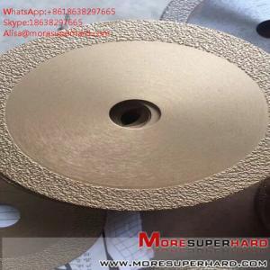 China vacuum brazed diamond saw blades Alisa@moresuperhard.com wholesale