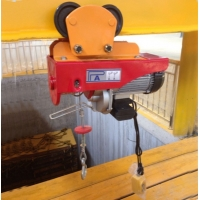 China mini electric wire rope hoist 100kg to 1000kg 220V single phase on sale