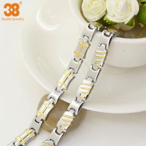 China China supplier bracelet titanium magnetic jewelry gold plated,energy bracelet,fashion bracelet wholesale