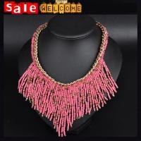 China China Cheap Multilayer Bead Strings Chocker Bib Necklace & Pendant Chain Factory Wholesale on sale