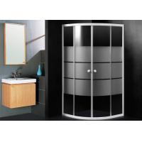 Frosted Glass Bathroom Shower Enclosures , Sector Shape Corner Door Bathroom Shower Cubicles