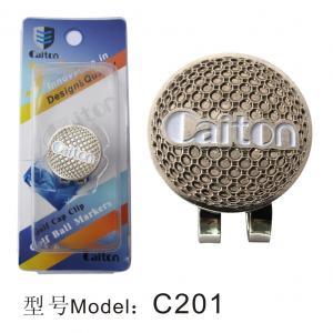 China Custom zinc alloy golf cap clip with ball marker wholesale