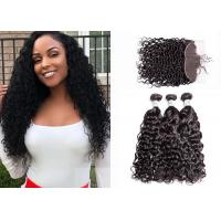 China QueenLife Brazilian Human Hair Bundles With Frontal 3 Pieces No Bad Smell wholesale