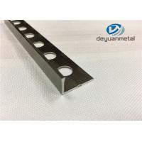 China 6063-T5 Aluminum Round Floor Strip Aluminium Edging Strip With Hole Punched wholesale