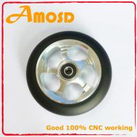 China Alloy metal core, PU scooter wheels wholesale