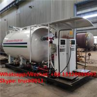 China cheapest price customized 4tons skid lpg gas tanker with electronic filling scales, skid lpg filling plant with scales on sale