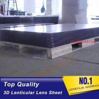 China 120x240cm 20 LPI Polystrere material 3mm Thickness Plastic Lenticular plate thick lenticular material wholesale