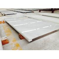 China White / Beige Marble Bathroom Vanity Countertops Polished Solid Surface wholesale