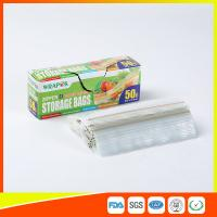 China Clear Reclosable Plastic Food Storage Bags Zip Seal With Private Lable wholesale