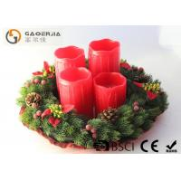 China Red Color Decorative Led Candles With Remote Control D8.5X12/14/16/18cm wholesale