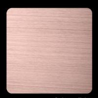 China Red Copper Ti-coating Colored 201 304 316 Hairline Stainless Steel Sheet GB, DIN, EN wholesale