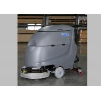 China 20 Inch Brush Walk Behind Floor Scrubber Floor Washers Scrubbers With Deep Gray Body wholesale