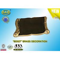 China REF. BD027 Brass Scroll Tombstone Decoration Material Copper Alloy Size 9*13 Cm wholesale