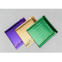 China Colored Metallic Shipping Envelopes Decorative Bubble Mailers Shock Resistance on sale