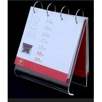 China A5 5mm Clear Acrylic Calendar Holder Display Rack Customized wholesale
