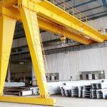 China BMH Type 5T 10T 20T Semi Electric Gantry Crane , Indoor Mobile Gantry Crane wholesale