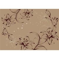 Quality Modern Flowers Bamboo Fiber Board For Living Room / Teahouse Decoration for sale