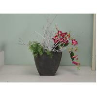 China Decorative Sturdy Square Plant Pots SGS Certification Built With Deep Root Zone wholesale