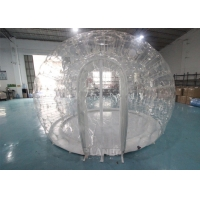 China 0.8mm PVC 4m Dia Transparent Igloo Clear Bubble Inflatable Dome Tent For Camping / Party wholesale