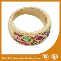 China 18K Gold Plated Fashion Jewelry Rings Ruby Setting Wedding Finger Ring wholesale