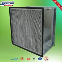 China Dust Holding Capacity Multilayer Synthetic Pocket Air Filter Material , Disposable on sale
