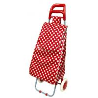 China Folding Oxford Shopping Cart with White and Black Dots Print BHT-014 wholesale