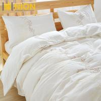 China Stone Wash French Flax Linen with embroidary Pure Linen Bedding Set : Bedding Set Material: 100%Linen/Hemp on sale
