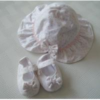 China hot sale baby summer hat with infant shoes ,girl