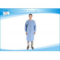 Operation Room Light Blue Polyester Fluid-resistance Surgeon Hospital Gowns For Men