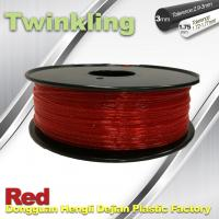 China Flexible 3D Printer Filament Twinkling 3mm 1.75mm Red Filament 1.3Kg / Roll wholesale