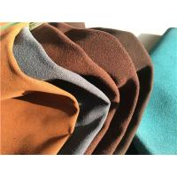 China Blue , Brown Footwear Embossed Suede Leather Fabric With 1.0-1.4 mm Thickness wholesale