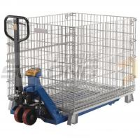 China Collapsible Logistic Wire Container Storage Cages , Wire Mesh Storage Cages wholesale