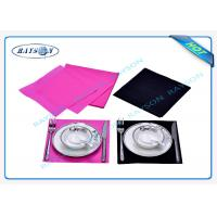 China SGS TNT Non Woven Waterproof Tablecloth Disposable For Napkin wholesale