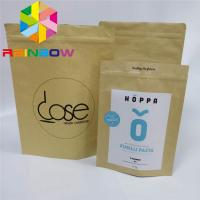 China Coffee Weeds Stand Up Pouch Bags Custom Printed Paper Packaging Kraft Paper wholesale