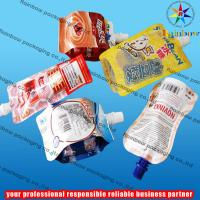 China juice spout pouch packaging with bottom gusset wholesale
