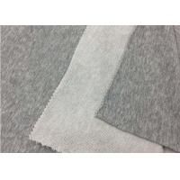 China SGS Approval 100% Cotton Knit Fabric / Plain Dyed Grey Polyester Fabric wholesale