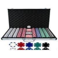 China 1000pcs Chip Set With Aluminum Case, Clay Poker Chip on sale