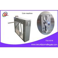 China Automatic 304 stainless steel pedestrian security gates With Swallow Coin Machine wholesale