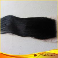 China Remy Yaki Human Hair Top Closure 14 Inch With Tangle Free on sale