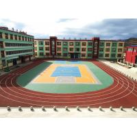 China Skid Resistant Shock Absorption Running Track Flooring With Heavy Metals Free wholesale