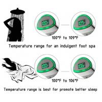 China JK-2600 LED Thermometer Handheld Shower Heads Water Powered Light to Display Fahrenheit for Skin Health, Child and Pet wholesale