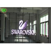 China 93% Transparent TL19.23 LED Video Advertising  Screen , Light weight transparent led display wholesale