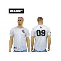 China Cheap 100% polyester blank design custom sublimation baseball jerseys with botton wholesale