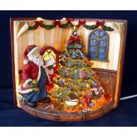 China Casting Epoxy Resin Crafts Praying Santa Claus Statues for Home Decor on Christmas wholesale