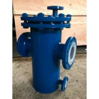 China Carbon Steel Basket Water Meter Strainer Flanged End Connect With PTFE Lined wholesale