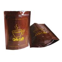 China Zipper Coffee Valve Bags Food Grade , Heat Seal Food Bags Laminated wholesale