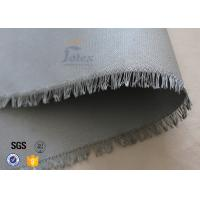 "China 0.45mm PU Coated Fiberglass Fabric For Welding Blanket 460gsm 39"" Cloth wholesale"